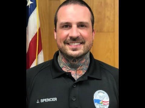 Former Five Finger Death Punch drummer Jeremy Spencer is now a reserve Police Officer...