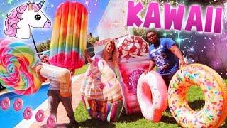 LA PISCINA MAS KAWAII DEL MUNDO!! HINCHABLES KAWAII