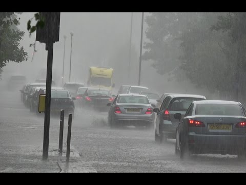 Thunderstorm & Floods Hit London