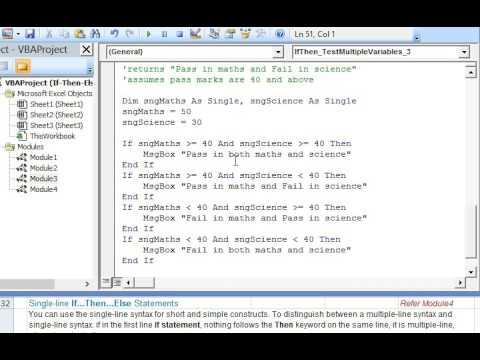 If En Else Statements In Excel Vba To Test Multiple
