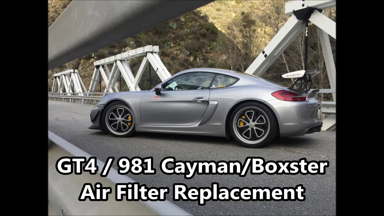 maxresdefault porsche 981 gt4, cayman and boxster air filter replacement and