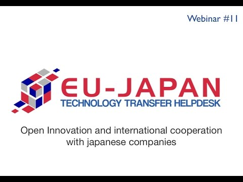 Webinar # 11: Open Innovation and international cooperation with japanese companies