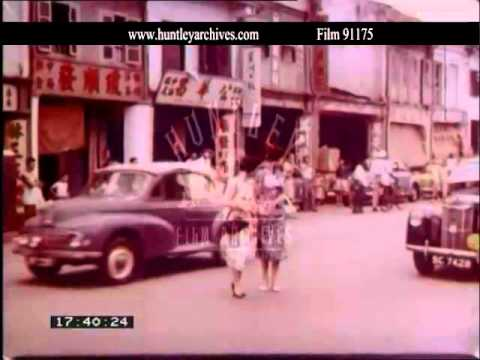 Singapore, shops in the mid 1950's.  Film 91175