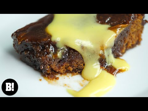 STICKY TOFFEE PEAR PUDDING | BOSH! | VEGAN