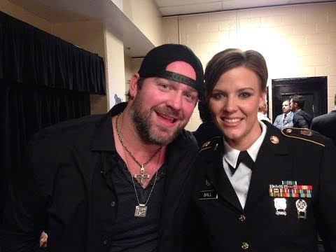 Lee Brice and SGT ChristiAna Ball Perform I Drive Your Truck