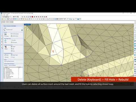 Moldex3D Designer BLM표면 메쉬 수정 보완