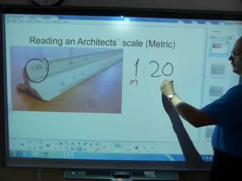 Read an Architects` scale (decimal)