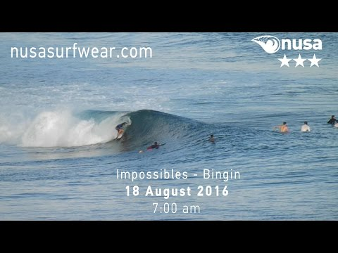 18-08-2016 /✰✰✰/ NUSA's Daily Surf Video Report from the Bukit, Bali.