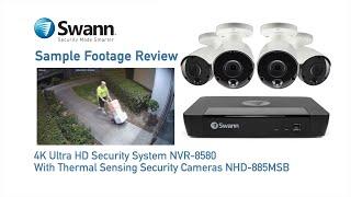 Swann 8MP SONVK-886802D2B 4K 2TB 2x888MSD Domes + 2x887MSB Bullet Cameras (8x4) video