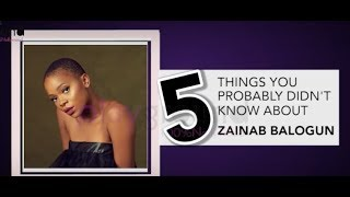 5 THINGS YOU PROBABLY DID'NT KNOW ABOUT ACTRESS, ZAINAB BALOGUN