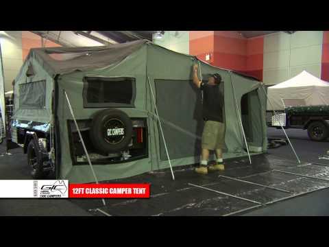 GIC CAMPERS 12ft DELUXE CAMPER TENT SETUP