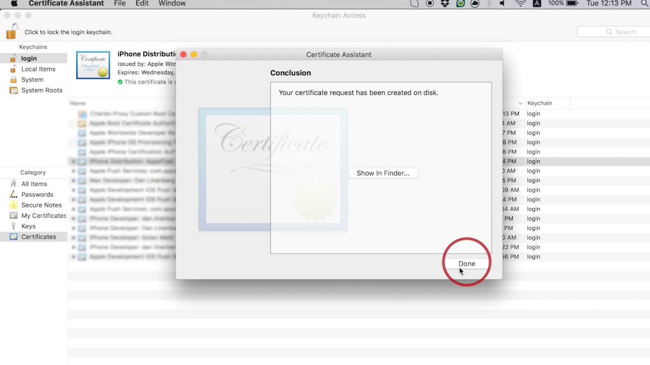 Generate an iOS Uninstall Certificate