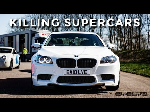 Evolve at Vmax 200 in our BMW F10 M5 vs Supercars!