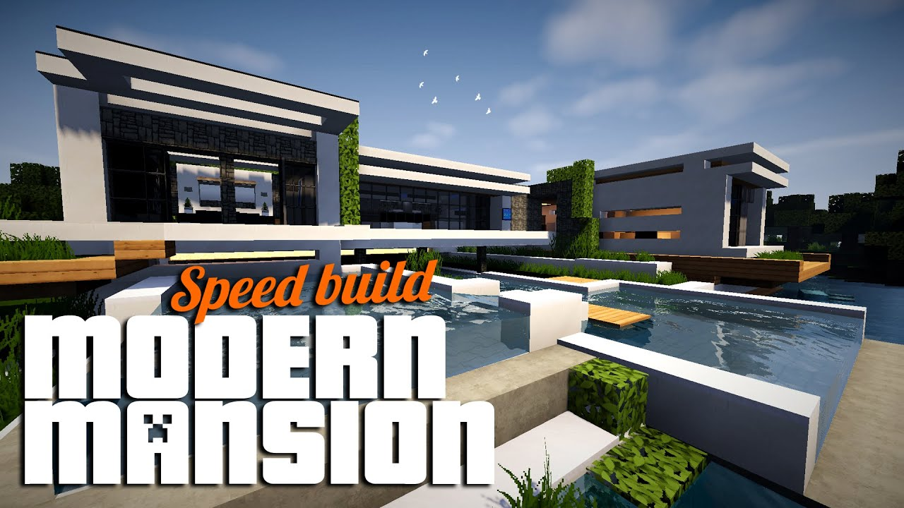 Minecraft Timelapse 1 Minecraft Modern Mansion YouTube