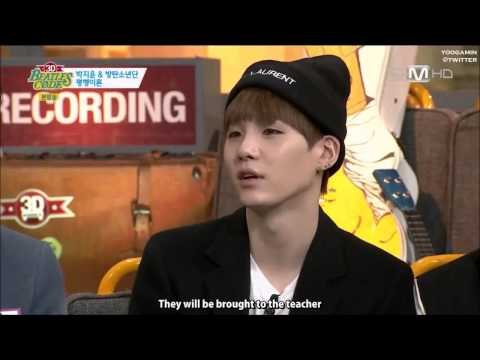 [ENG SUB] 방탄소년단 BTS's SUGA was a student council (Nerd Boy?)