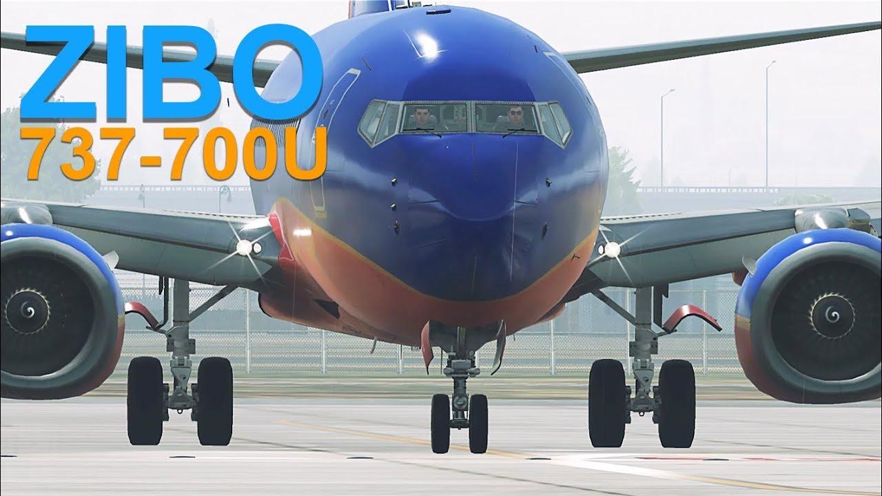 X-Plane 11 | Zibo 737-700 Ultimate | Ski Rain Daytime Departure