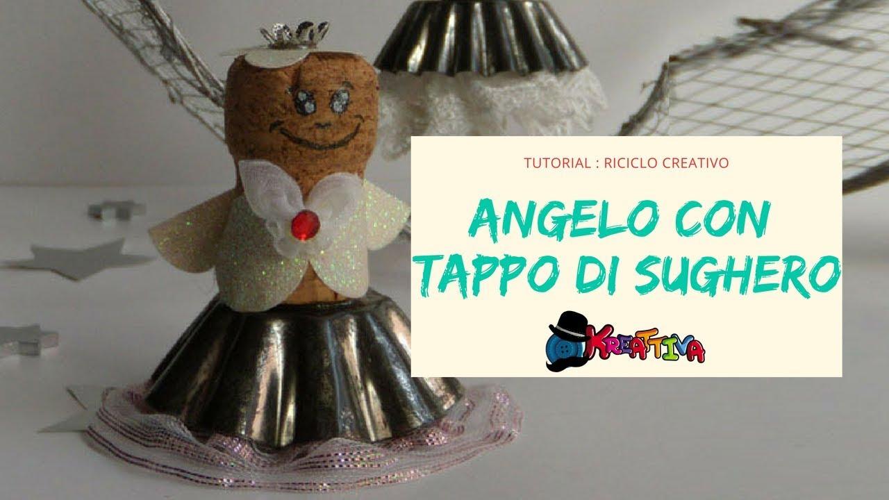 riciclo creativo angeli fai da te con tappi di sughero