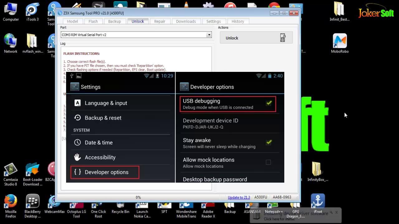 How to Unlock Galaxy A5 SM-A500FU By Z3X-Box by Joker Soft