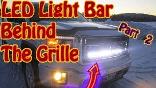 """Wiring a 32"""" Auxbeam V-Series LED Light Bar That's Mounted  Behind the Grille On a GMC Sierra Part 2"""