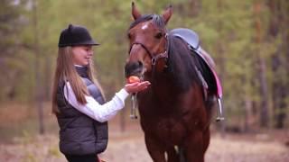 Детская фотосессия с лошадьми: бэкстейдж