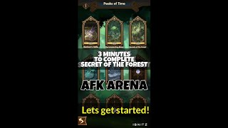 AFK Arena - 3 Minutes Tips To Complete Secret Of The Forest! Must Watch!