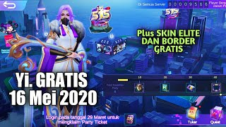 Free Yi Hero Gratis Event 515 Party Mobile Legends Youtube