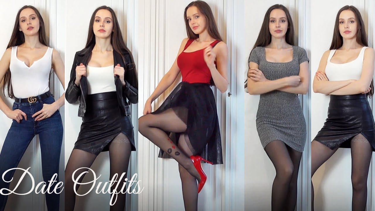 Try Outs with Tanya - What to Wear on a Date | Trying on Dresses, Skirts, Heels, Tights