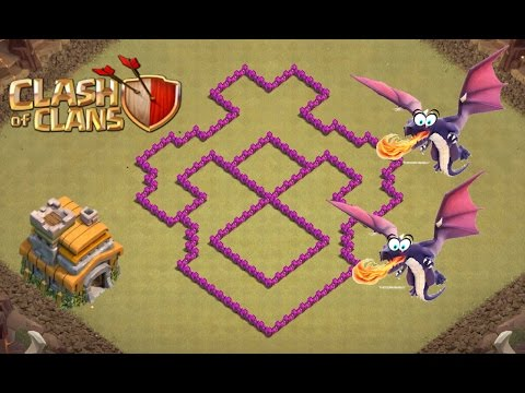 Clash of Clans | Best War Base Th7 (TOWNHALL 7) | Anti Dragon | Speed Build + Defence Replay |