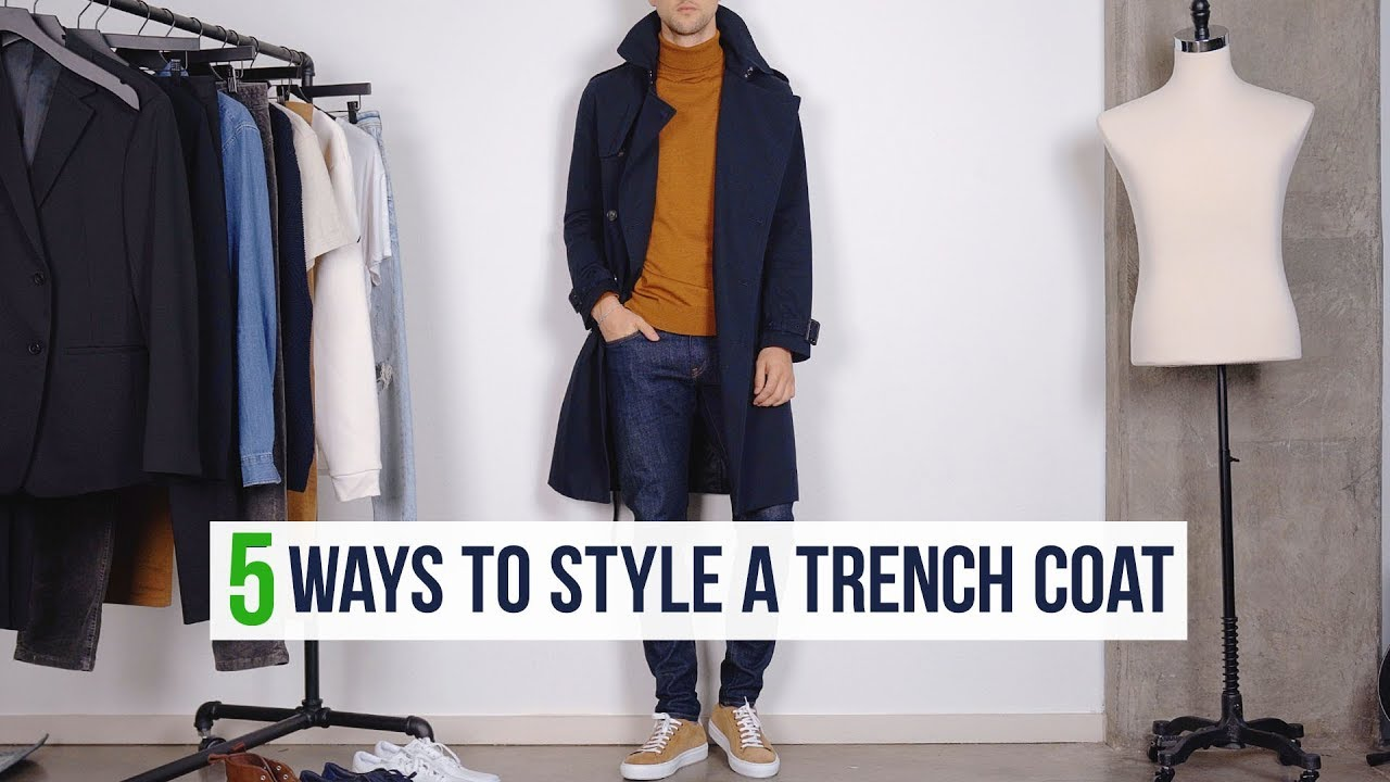 [VIDEO] - 5 Different Ways to Style a Trench Coat   Men's Fashion Outfit Inspiration 4