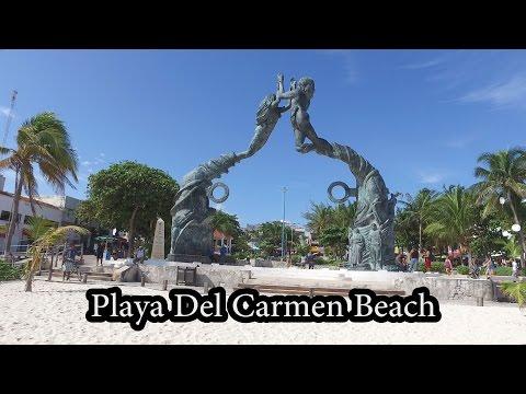 Walking Playa Del Carmen Beach - Mexico - Dec 2016