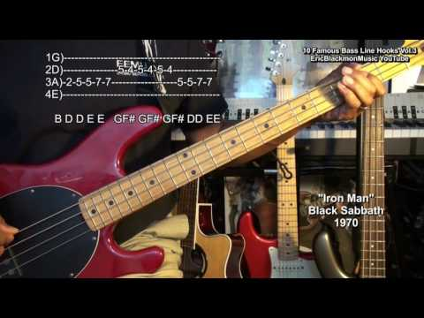 10 Famous MUST KNOW Bass Guitar Hook Riffs With TABS FunkGuitarGuru Funk
