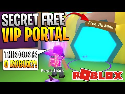 ROBLOX MINING SIMULATOR SECRETS! - FREE VIP PORTAL!? *NO ROBUX NEEDED!*