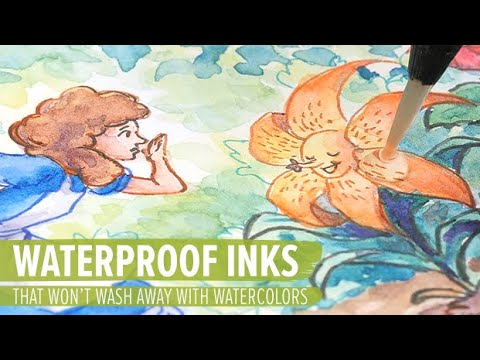 Waterproof Pens & Inks That Won't Wash Away With Watercolors
