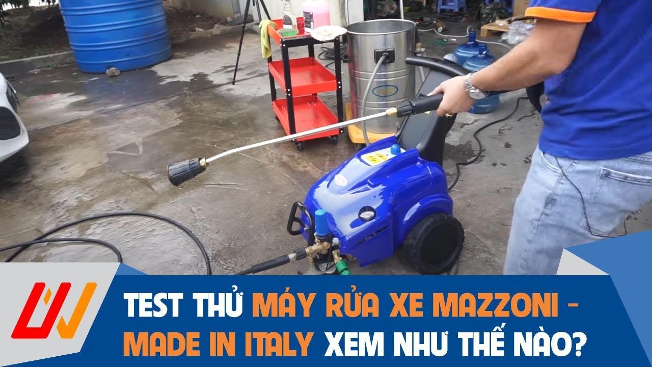 Máy rửa xe áp lực cao Mazzoni - Made in Italy | Cùng trải nghiệm và đánh giá sản phẩm - univiet.com.vn
