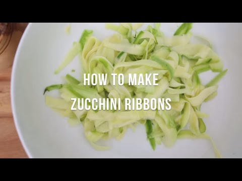 How To Make Zucchini Ribbons | By @cooksmarts