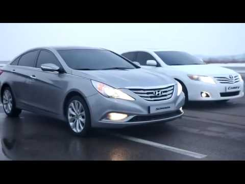 Real time Hyundai 2011 Sonata vs 2010 Toyota Camry running comparison