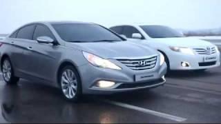 (Real time) Hyundai 2011 Sonata vs 2010 Toyota Camry running comparison