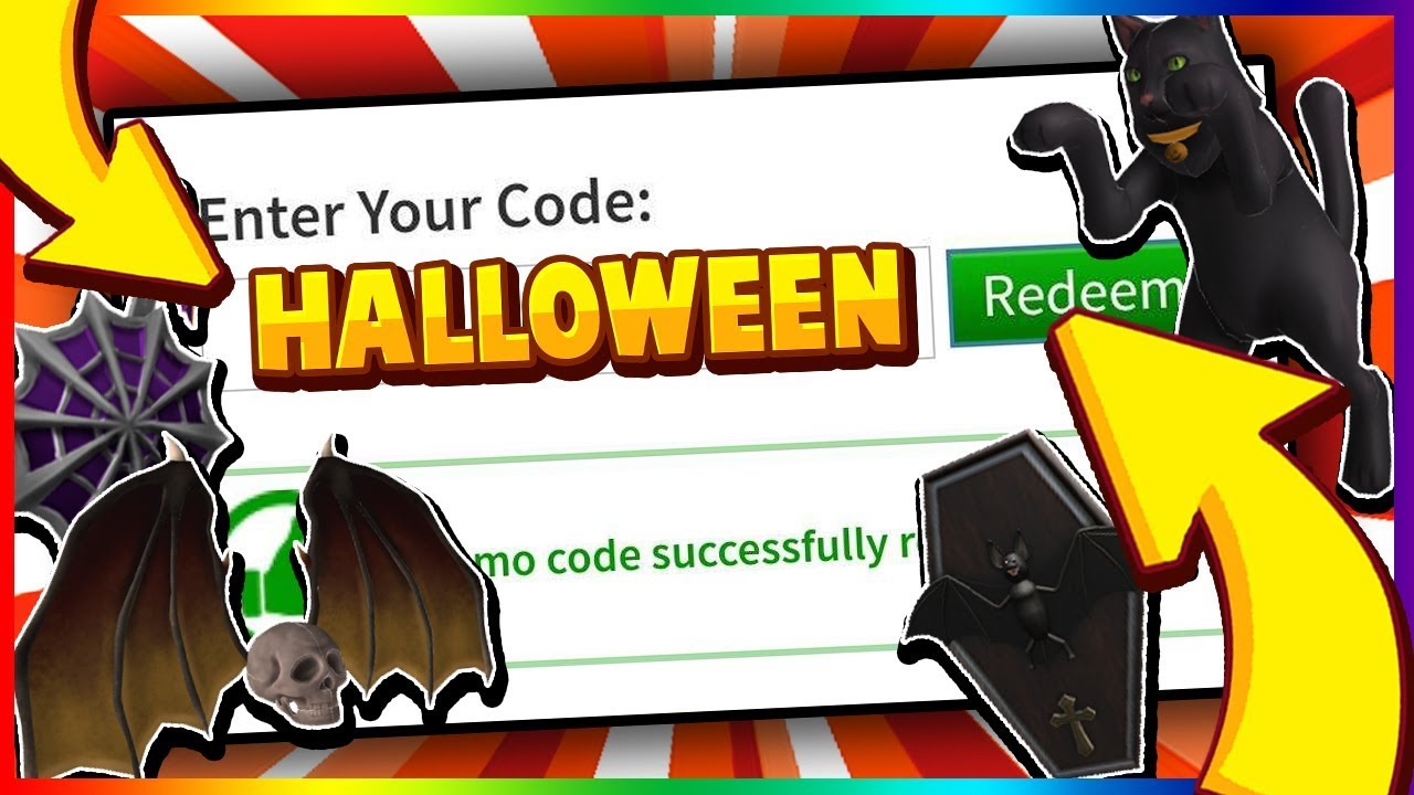October All Working Promo Codes On Roblox 2019 Halloween New