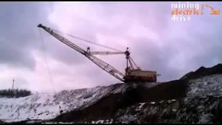 Mining at coal mine  Горные работы на разрезе