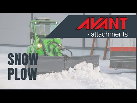 Snow Plow 2, Avant 300-700 Series attachment