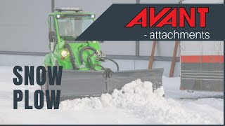 Snow Plow 2, Avant 300-700 Series attachment Thumbnail
