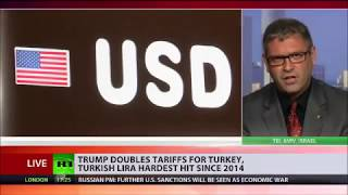 Dr. Hay Eytan Cohen Yanarocak on Turkish Lira's Devaluattion 10.8.18 - Russia Today