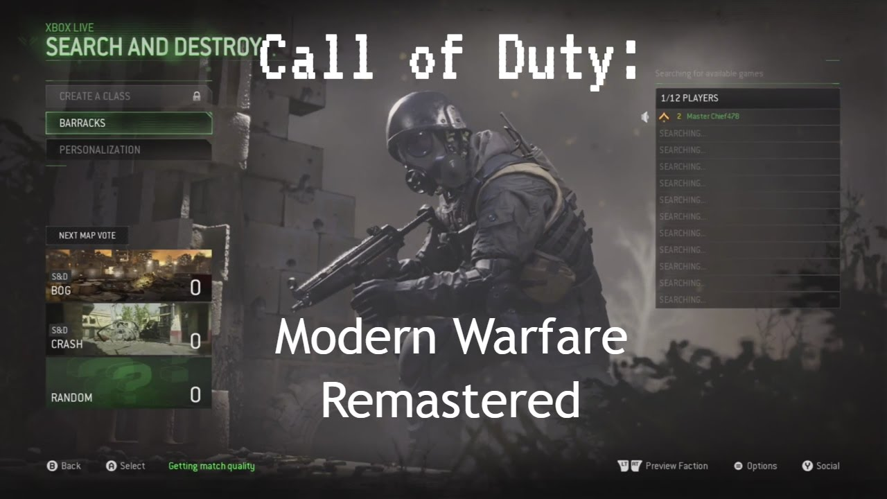 Call of Duty: Modern Warfare Remastered Multiplayer Gameplay Xbox one