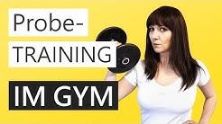 Probetraining im Fitnessstudio | FIT fr den Sommer
