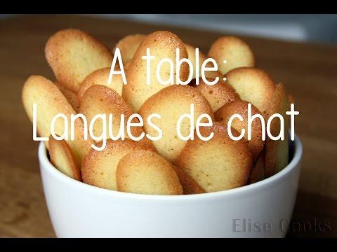 RECETTE : Langues De Chat