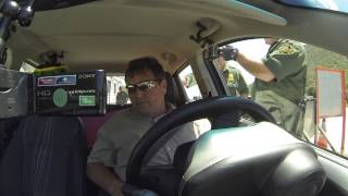 Robert Trudell rides into Pine Valley, California - US Border Patrol Checkpoint, Refuses Search