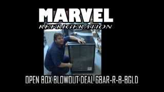 Marvel Under-counter Refrigerator & Wine Grotto Fridge blowout deal 6BAR-B-G-BGLD
