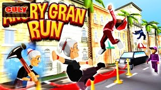 Game hài Bà già giận giữ chạy lụm vàng khủng long cu lỳ chơi game Angry Gran Run funny vui nhộn