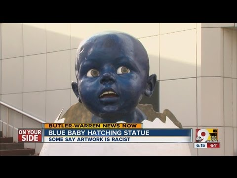 Blue Baby Hatching: Is scuipture racist?