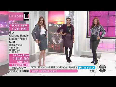 G by Giuliana Rancic Leather Pencil Skirt. http://bit.ly/2J6zsef